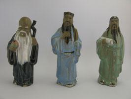 Фаянсовые статуэтки Божеств трёх видов счастья