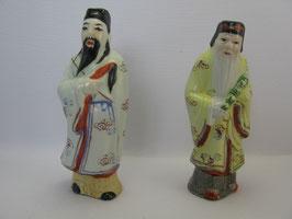 Фарфоровые фигурки Люй Дунбина и Чжан Голао, бессмертных даосской традиции