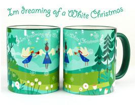 """Weihnachtstasse """"White Christmas"""""""