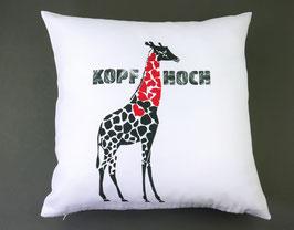 Kissen, Giraffe mit Herz