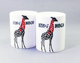 """Kaffeetasse """"Kopf Hoch"""" mit Herz"""