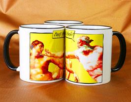 """Kaffeetasse """"Kopf Hoch"""" nach Michelangelo"""