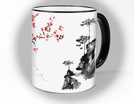 "Tasse ""Japan"" Tee und Kaffeetasse   Kirschblüten"