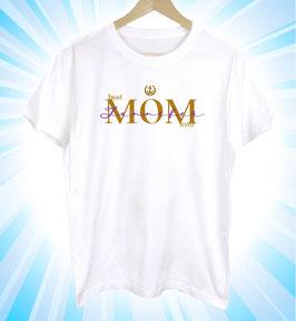 T-Shirt zum Muttertag mit individuellem Namen Aufdruck | 100 % Baumwolle | ein Geschenk das Freude macht | weiß (2)
