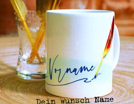 Tasse mit Ihrem Wunschnamen // Schreibfeder