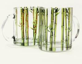 Stilvolle Teetasse   transparente Bambusoptik