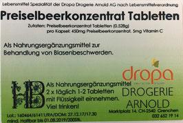 Preiselbeer Tabletten ohne Meerrettich