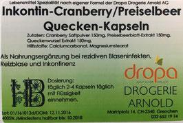 Cranberry / Schliessgrass Kapseln (Inkontin)