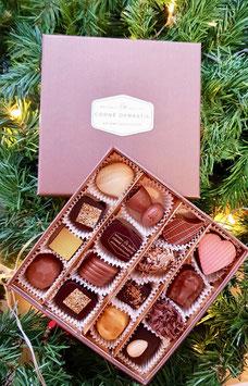 Boîte brune 16 pralines
