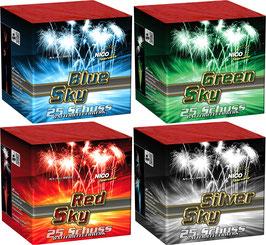 Sky Batterien (Red/Green/Blue/Silver)
