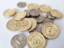 20 metal coins