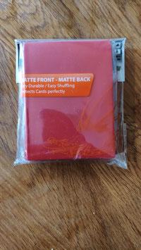 50 Card Sleeves red