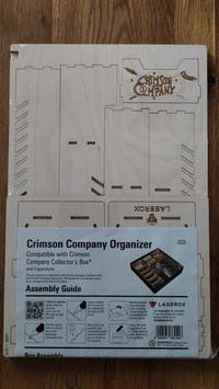 Inlay for Crimson Company Collectors Box for STANDARD & DELUXE EDITION