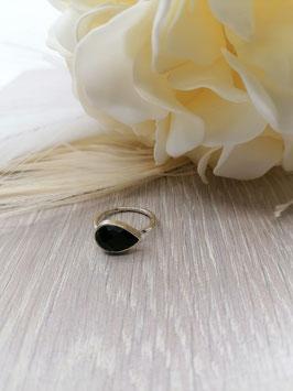 Fingerringe Silber oder Silber vergoldet mit Onyx