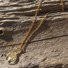 Halskette gelbgold mit Lebensbaum