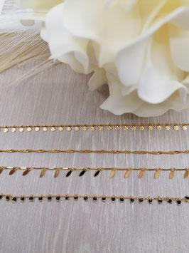 Halskette messing vergoldet