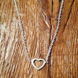 Halskette silber mit Herzanhänger