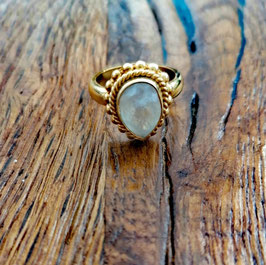 Fingerring gelbgold Bergkristall