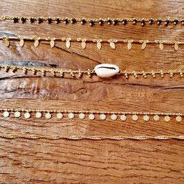 Halskette messing gelbgold
