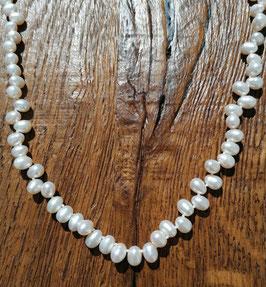 Halskette 42cm Süsswasseperlen