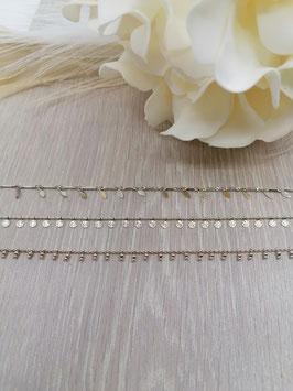 Halskette messing silber