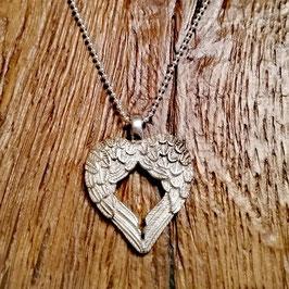 Halskette siber 48cm Doppel Engelsflügel