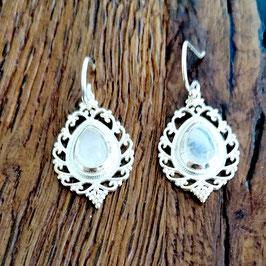 Ohrringe silber Bergkristall