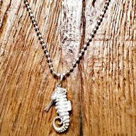 Halskette siber Seepferdchen