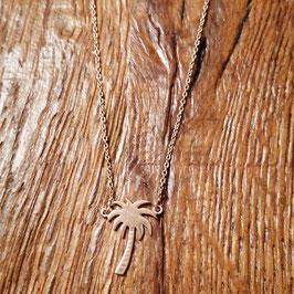 Halskette 44 cm  Rosegold mit Palme