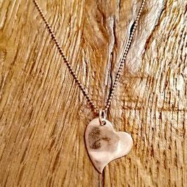 Halskette Rosegold Herz