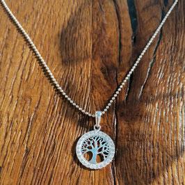 Halskette silber Lebensbaum