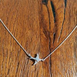 Halskette silber Vogel