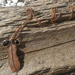 Halskette Rosegold Feder