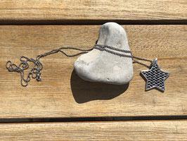 Halskette mit Stern silberfarben