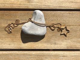Halskette mit Sternen goldfarben