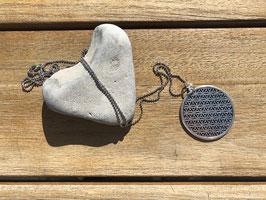 Halskette mit Kreis silberfarben