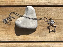 Halskette mit Sternen silber