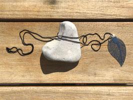 Halskette mit Blatt silber