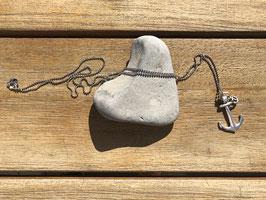 Halskette mit Anker silberfarben