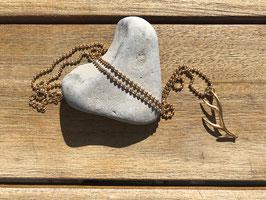 Halskette mit Geweih goldfarben
