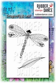 Dragonfly & Leaf