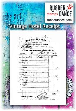 Vintage Hotel Receipt