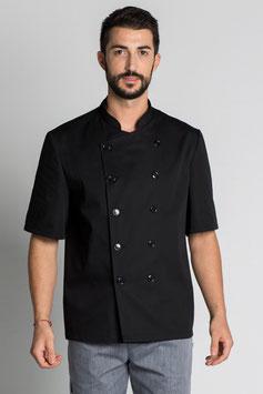Chaqueta Cocinero Básica manga corta color negra