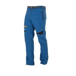 Pantalón Unisex Trekking Polyester / Elastán. Color Azul índigo/Negro/Mostaza. Tallas 38 a 44