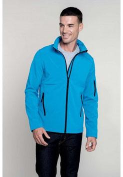Chaqueta Softshell Hombre, color Aqua Blue. Tallas S a 4XL
