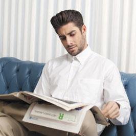 Camisa Caballero Oxford manga larga y bolsillo en pecho izquierdo. Tallas desde 34/35 a 52/53