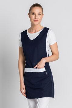 Estola básica servicios para mujer. Color azul marino contraste blanco.