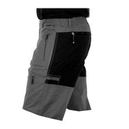 Pantalón Bermuda Hombre Color Gris combinado Negro