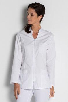 Chaqueta Comercio Señora manga larga color blanco. Talla SP a XG
