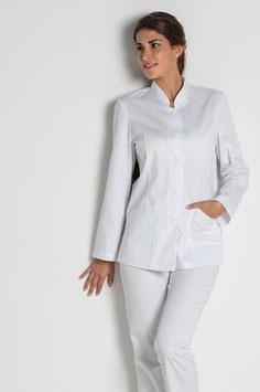Chaqueta básica Señora manga larga color blanco Talla SP a XG